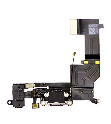Charging Port/Headphone Jack Flex Cable for use with iPhone SE (2016)(Black)