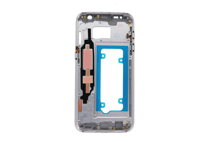 Middle Frame for use with Samsung Galaxy S7 (White Pearl)