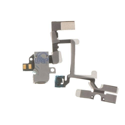 Headphone Jack, Volume and Silent Switch Assembly, White, GSM for use with iPhone 4