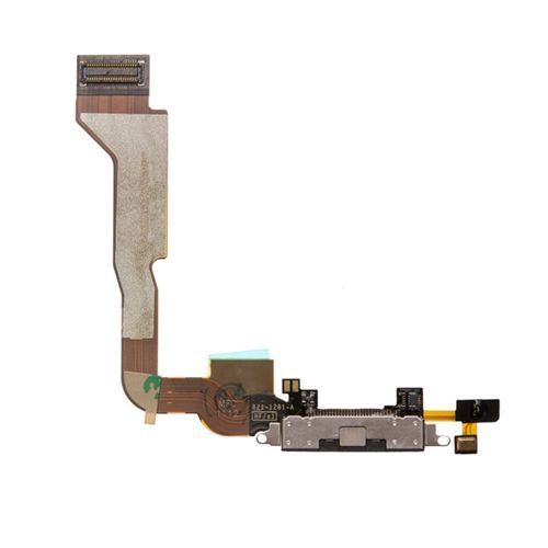 Docking Charging Port, Bottom Mic and Flex Cable, Black, Verizon Only for use with iPhone 4