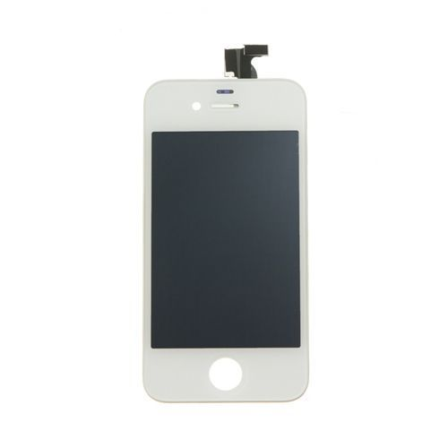 iBic, LCD Screen and Digitizer Assembly with Speaker Grill and Camera Hold, White, for use with iPhone 4 AT&T