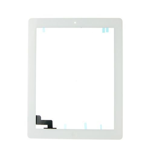 iBic Glass and Digitizer Full Assembly, White, for use with iPad 2