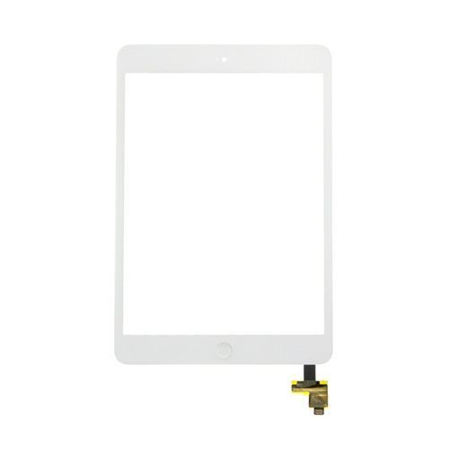 Glass and Digitizer Assembly for use with iPad Mini & iPad Mini w/Retina, White, with IC chip and home button flex cable