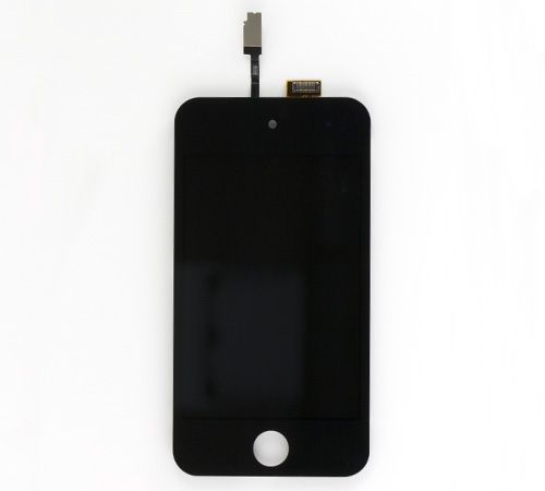 LCD, Digitizer and Glass Screen Assembly, Black, for use with iPod Touch Gen 4, Premium