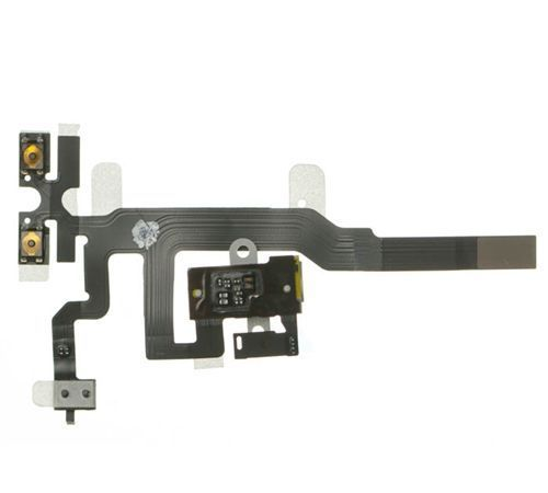 Head Phone Jack Flex cable, White for use with iPhone 4S