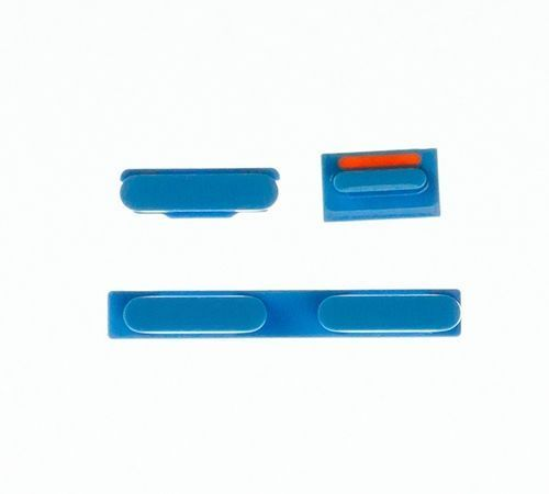 Volume, Power and Mute Buttons for use with the iPhone 5C, Blue