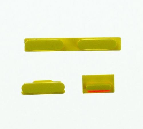 Volume, Power and Mute Buttons for use with the iPhone 5C, Yellow