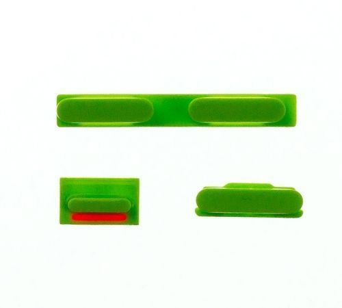 Volume, Power and Mute Buttons for use with the iPhone 5C, Green