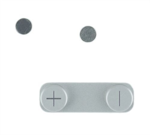 Volume Button with Metal Spacer, White, for use with iPhone 5