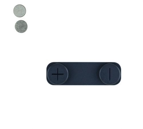 Volume Button with Metal Spacer, Black, for use with iPhone 5