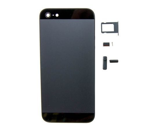 Back Housing for use with iPhone 5, Black (NO LOGO)