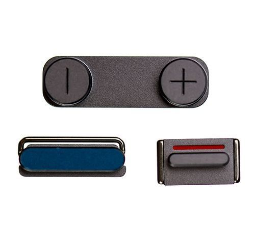 Power, Mute Switch and Volume Buttons for use with the iPhone 5S, Gray