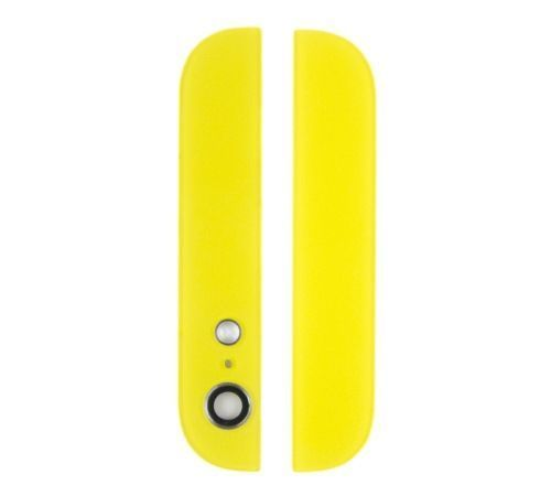 Yellow Glass Inserts for use with iPhone 5 Back Housing