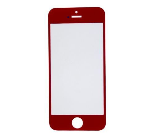 Red Replacement Glass for use with iPhone 5
