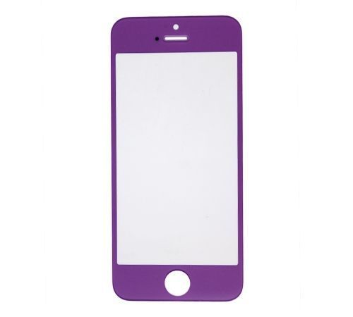 Purple Replacement Glass for use with iPhone 5