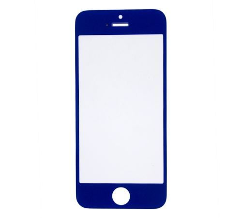 Dark Blue Replacement Glass for use with iPhone 5