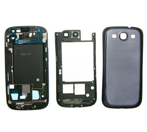 Full Housing for use with Samsung Galaxy S III (S3) Blue AT&T I747