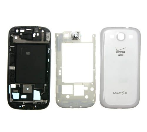 Full Housing for use with Samsung Galaxy S III (S3) White Verizon/US Cellular I535/R530