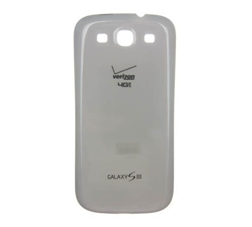 Battery Cover for use with Samsung Galaxy S III (S3) White Verizon i535