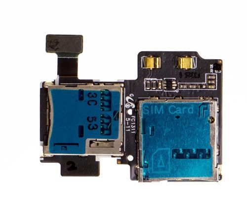 SIM and SD Card Reader for use with Samsung Galaxy S4 International/International LTE i9500/i9505