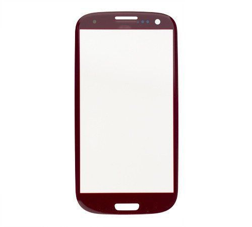 Glass only for use with Samsung Galaxy S III Garnet Red