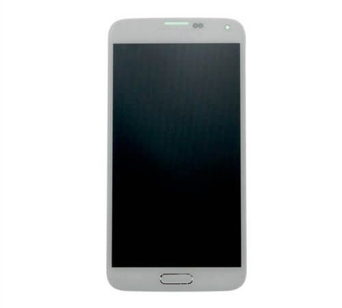 Samsung Galaxy S5 LCD Assembly SM-G900, Shimmery White (Home button & flex installed)