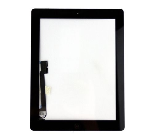 iBic Glass and Digitizer Full Assembly, Black, for use with iPad 3