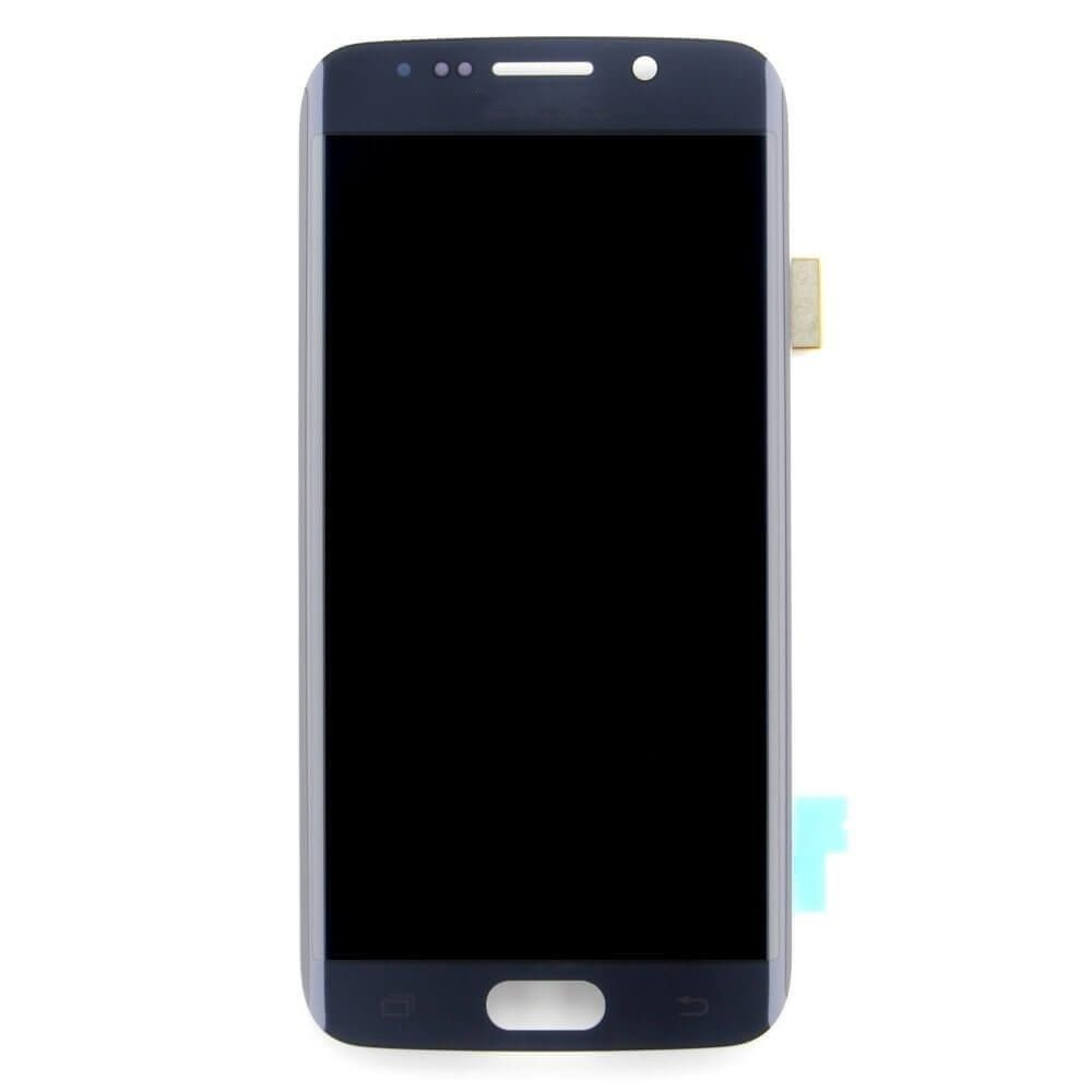 Lcd Digitizer Assembly For Use With Samsung Galaxy S6 Edge G925 Black Sapphire No Frame No Home Button Flex