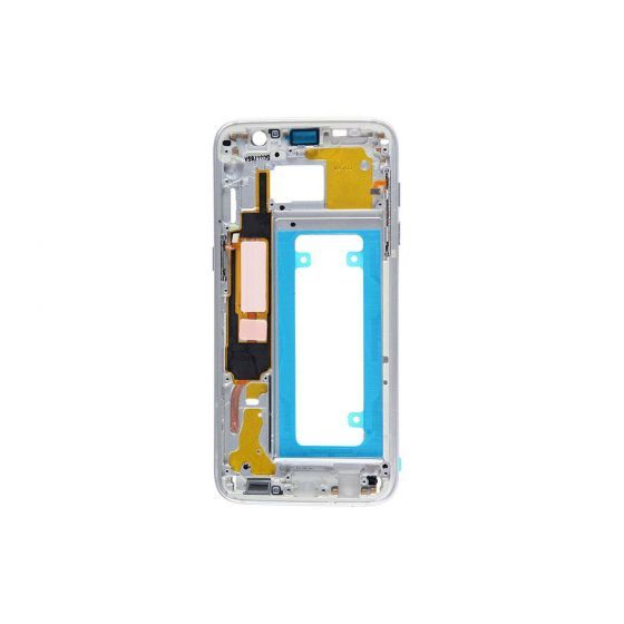 Mid Frame (w/ Small Parts) for use with Galaxy S7 Edge (Silver)