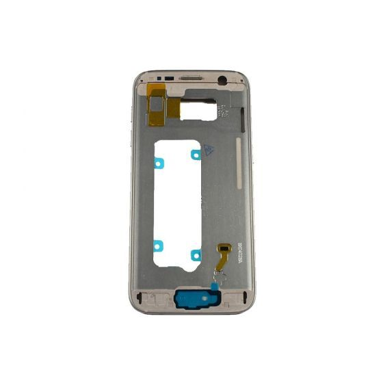 Mid Frame (w/ Small Parts) for use with Galaxy S7 Edge (Gold)