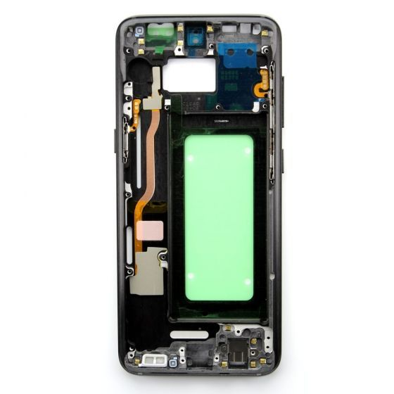 Middle frame for use with Samsung Galaxy S8 (Black)