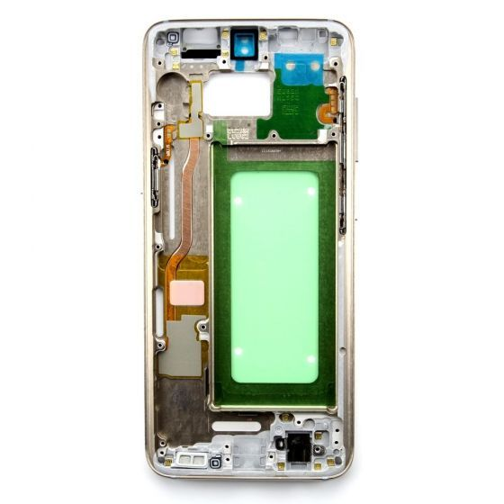 Middle frame for use with Samsung Galaxy S8 (Gold)