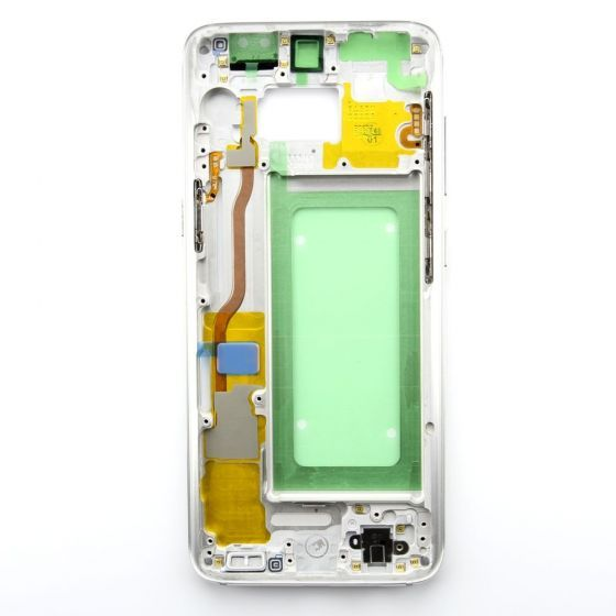 Middle frame for use with Samsung Galaxy S8 (Silver)