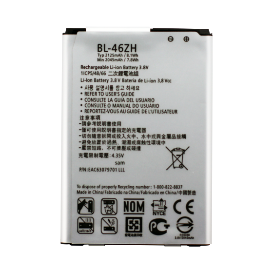 Battery for use with LG K8 (2016)
