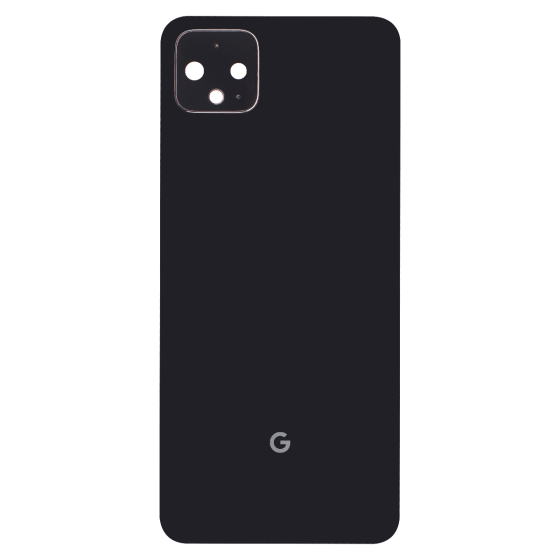 Back Housing with Small Parts for use with Google Pixel 4 (Black)