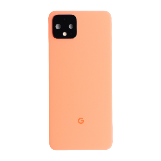 Back Housing with Small Parts for use with Google Pixel 4 (Orange)