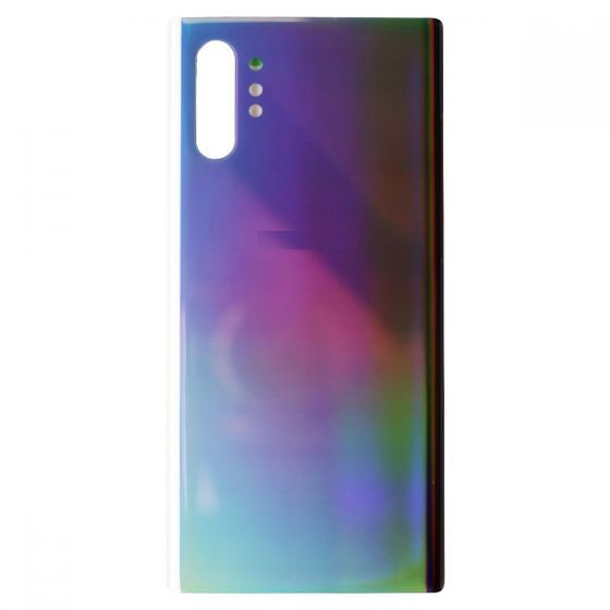 Back Glass for use with Samsung Galaxy Note 10 Plus (Silver)