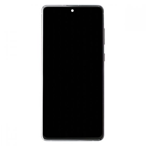 OLED/Digitizer Assembly for use with Samsung Galaxy Note 10 Lite (with Frame) (Silver)