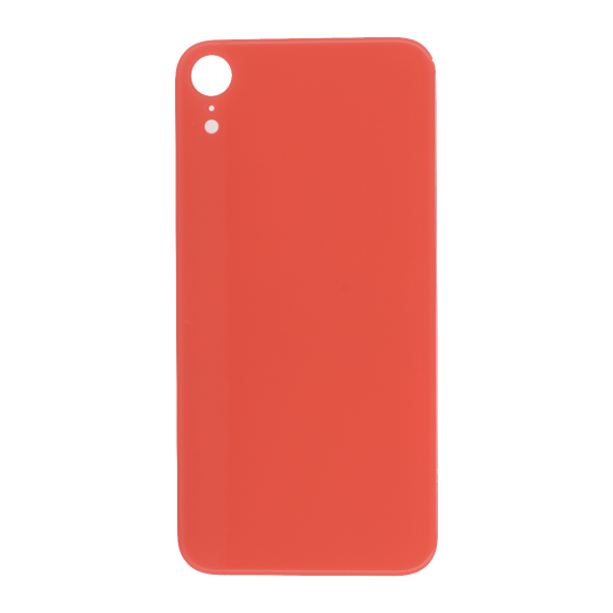 Back Glass (with larger camera opening) for use with iPhone XR (Pink) No Logo