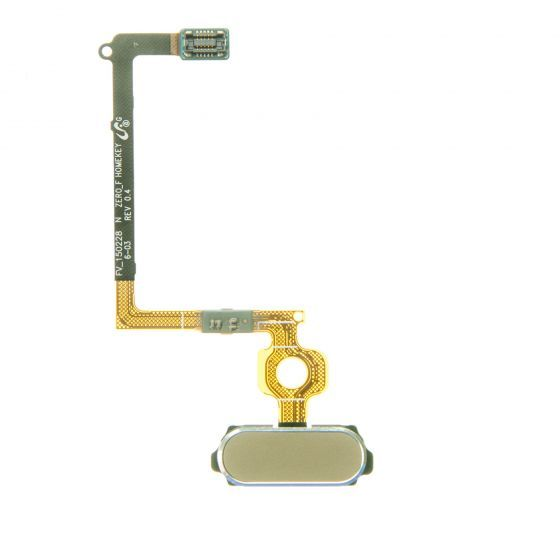 Home Button Flex cable for use with Samsung Galaxy S6 G920, Gold