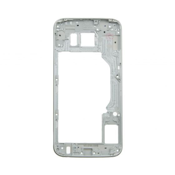 Back Housing for use with Samsung Galaxy S6 G920, Without Small Parts, White