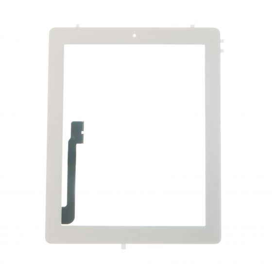 lass and Digitizer Full Assembly with Home Button and Adhesive, White, for use with iPad 3