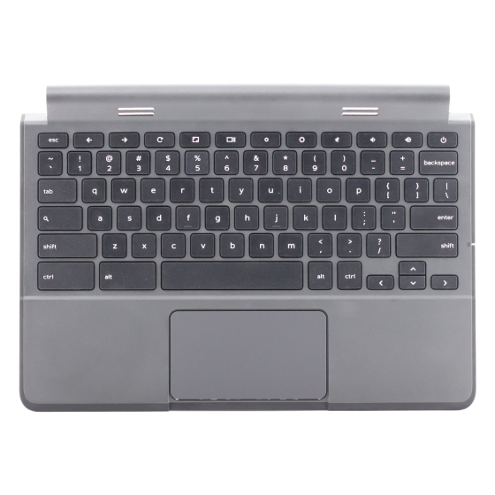 Keyboard/Palmrest/Touchpad  for use with Dell11 G2 3120 Chromebook, Part Number: 0R36YR