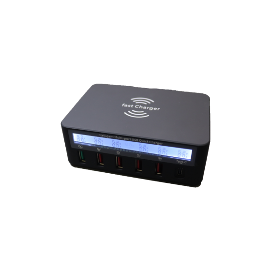 6-Port USB Rapid Charger with Ammeter