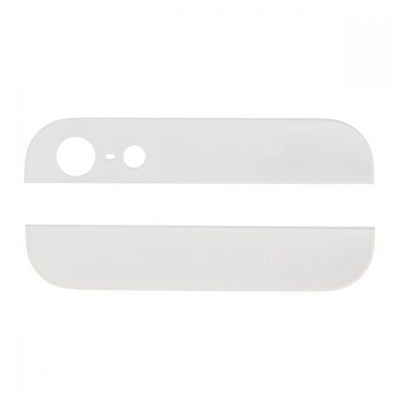 White Glass Inserts for use with iPhone 5 Back Housing