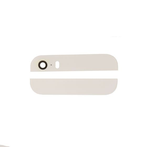 White Glass Inserts for use with iPhone 5S Back Housing with Camera and Flash Lens