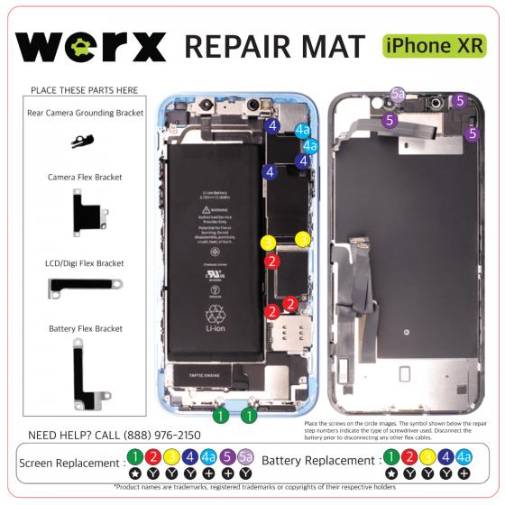 Magnetic Screwmat - iPhone XR