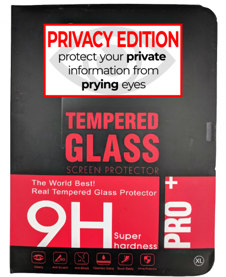 Premium Privacy Tempered Glass Protector for use with Ipad Mini/Mini2/Mini3  (retail packaging)