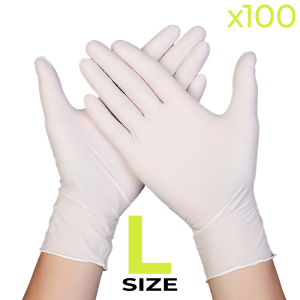 Disposable Nitrile Gloves - Large (Box of 100)