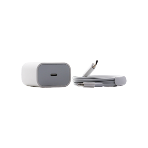 Fast Charger 18W USB-C Block with USB-C to Lightning 3' cable